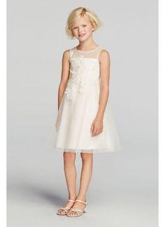 9b019274c8b David s Bridal Juniors Flower Girl Dress - The Knot - Formal Bridesmaid  Dresses 2017
