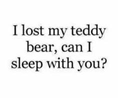 Can i sleep with you? ;-)