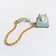 Rotary Dial Telephone Lapel Pin - Mint