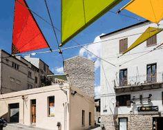 renzo piano + alvisi kirimoto set vibrant sails above piazza faber in sardinia