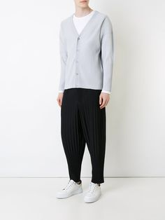 Homme Plissé Issey Miyake pleated cropped length trousers