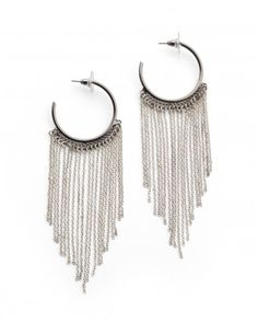 These have become favorites of mine. The oxidized silver hoop makes it that much edgier.