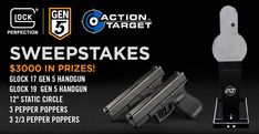 Enter http://woobox.com/gfcp3a/jkyqz0 for the $3000 Glock 17 & 19 pistol and target #giveaway from Action Target. Prize package has 2 Glock pistols!