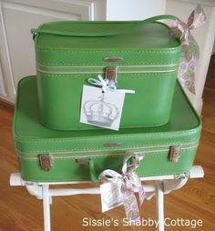 Gorgeous green vintage cases