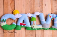 Personalized Baby Nursery Name Wall Decor by RovicsPersonalTouch