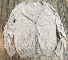 Sundance Merino Wool Cardigan Gray Sweater Womens Sz XL* #Sundance #Cardigan