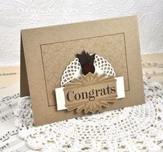 Congrats Card by Dawn McVey for Papertrey Ink (November 2013)