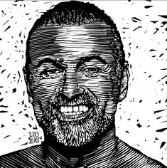 George Michael Daddy Go, George Michael, Rock, Illustration, Fictional Characters, Art, Drawings, Stone, Illustrations