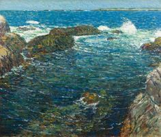 """""""Incoming Tide"""", Childe Hassam, 1911, Oil on canvas, 30 1/8 x 36 1/8"""", Avery Galleries."""