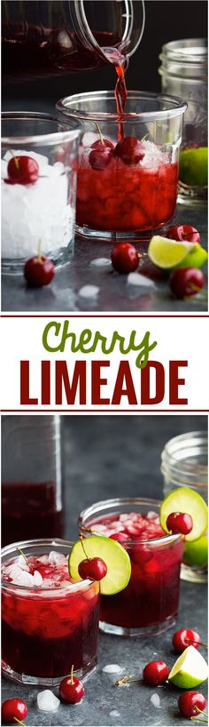 Cherry Limeade - Simple, bright, and refreshing. Perfect for summer days and takes just 5 minutes to make!