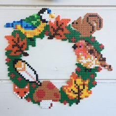 Autumn wreath hama beads by onnelioona