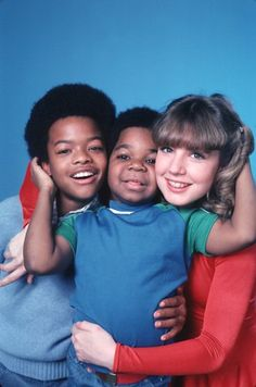Dana Plato (as Kimberly Drummond), Todd Bridges (as Willis Jackson) and Gary Coleman (as Arnold Jackson) ~ Diff'rent Strokes ~ Publicity Stills ~ NBC ~ #sitcoms80s #80stvshows #differentstrokes