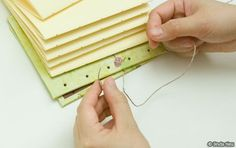 instructions for a pretty and simple book binding stich (coptic stich)