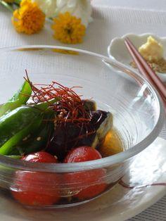 レンジで3分!夏野菜の揚げ浸し。