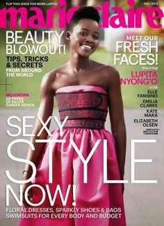 Times Square Gossip: LUPITA NYONG'O IS MARIE CLAIRE'S FRESH FACE