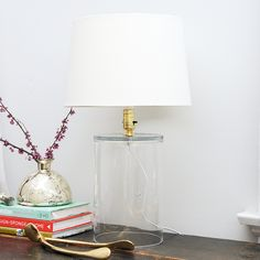 DIY: chic glass lamp from a vase