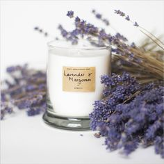 Soothing Lavender And Marjoram Scented Candle by AEQUILL, the perfect gift for Explore more unique gifts in our curated marketplace. Marjoram Essential Oil, Neroli Essential Oil, Pure Essential Oils, Mothers Day Candle, Lavender Benefits, Candle Scent Oil, Luxury Candles, Scented Candles, Lavender Candles