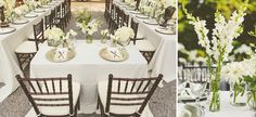 white centerpieces // photo by cptphotography.com