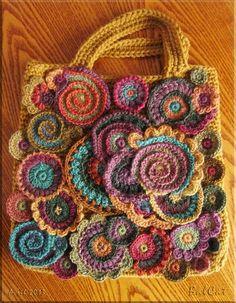 Balcat freeform crochet bag in progress sur Easycrochet