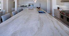 Taj Mahal Quartzite Kitchen Island – Carmel Stone Imports Palo Alto & Monterey, CA Quartzite Kitchen Island, White Quartzite Countertops, Stone Countertops, Home Design, Design Ideas, Taj Mahal Quartzite, Kitchen Countertop Materials, Kitchen Counters, New Kitchen