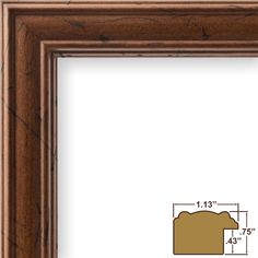 "1.13"" Wide Smooth Grain Picture Frame"