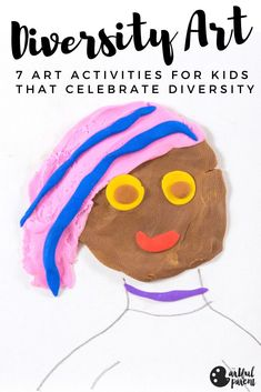 Some great diversity art activities for kids that celebrate everyone's uniqueness with drawing, painting, and clay art projects. Shown using the natural skin tones of the World Colors line of kids art materials by Faber-Castell. Preschool Art Activities, Drawing Activities, Creative Activities, Creative Kids, Drawing Games For Kids, Painting For Kids, Drawing Ideas, Crafts For Kids To Make, Projects For Kids
