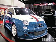 2012 SEMA Show Romeo Ferraris Fiat 500 Abarth. Love the USA theme!