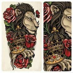 Sam Phillips Illustration — This is tattoo that I designed for a friend to go. Leo Tattoos, Arm Tattoos For Guys, Body Art Tattoos, Sleeve Tattoos, Tattoo Art, Inside Of Arm Tattoo, Sam Phillips, Tatuaje Old School, Matching Best Friend Tattoos