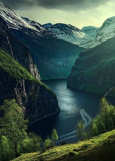 Geirangerfjord, Norway by Max Rive