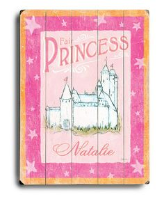 Take a look at this Artehouse Castle Personalized Wall Art by ArteHouse on #zulily today!