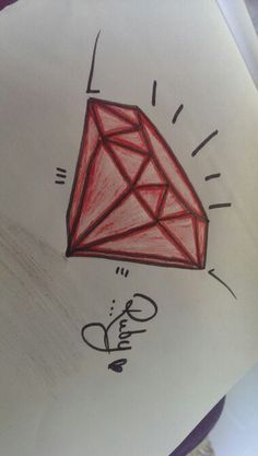 Sketching a potential tattoo idea......although i will never get one! #ruby