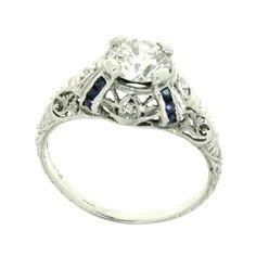 My Dream Engagement ring!! Platinum Dimonds and Saphires ahh!!
