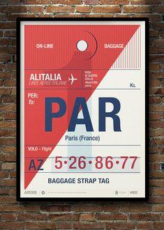Flight Tag Prints / Neil Stevens aka crayonfire