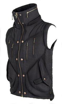 Mens Puma Vest - Black - love the big pockets Dark Fashion, Gothic Fashion, Mens Fashion, Fashion Vest, Latex Fashion, Steampunk Fashion, Moda Pop, Mode Steampunk, Cyberpunk Fashion