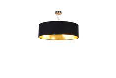 Plafon lampa sufitowa Zuma Line Andrea 1x40W E27 czarny/złoty HP1392-C-500-BL+PB