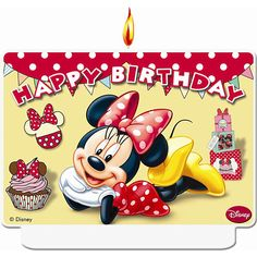 Minnie Mouse Cafe Candle (each) Happy Birthday Disney, Very Happy Birthday, Birthday Wishes, Birthday Ideas, Minnie Mouse Party, Mouse Parties, Mickey Mouse, Airwalker Balloons, Balloon Ribbon