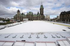 Oh, you thought the official Canada 150 rink might include hockey? Outdoor Skating Rink, Canada 150, Hockey Sticks, Figure Skating, Building, Celebrations, Fun, Ice Hockey Sticks, Buildings