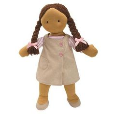 Don't you just love Waldorf Dolls? Do you know why Waldorf dolls have such simple features? Instead of a pre-set personality, the simple faces and comfortable softness encourage your child to create a personality for her doll out of her own imagination! 'Simply Willow' is our first Ethnic Waldorf inspired rag doll, and we get them from The NA Bear Co.