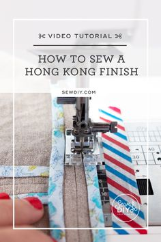 Learn how to sew a Hong Kong finish in this video tutorial and make the inside of your garments as beautiful as the outside. Sewing Basics, Sewing For Beginners, Easy Sewing Patterns, Sewing Tutorials, Learn To Sew, How To Make, Easy Projects, Hong Kong, It Is Finished