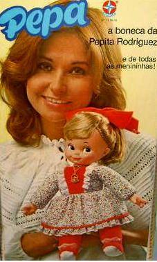 Boneca PEPA da Estrela 1976 Primeira boneca que saiu de um brinquedo de novela e passou a ser vendido... Eu tenho a minha até hj, amo de paixão é o meu xodó!!!!!!!