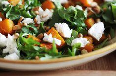 Roast Pumpkin and Rocket Salad
