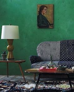 Gorgeous green style spot from Pinterest #goingforcolour #greenpaint #stylespot #vintagemix #interiordesign #interiorinspiration #eclecticdecor