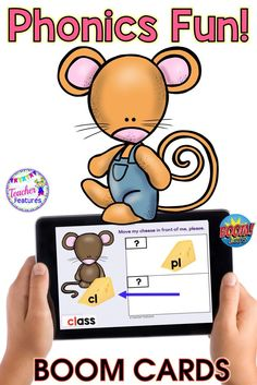 Boom Cards Phonics | 1st Grade | Consonant Blends | Digraphs | Short Vowels | Assess consonant blends, short vowels and digraph knowledge with cats and mice . Interactive Boom Cards digital task cards full of movable answers for students to manipulate, then type the correct answer.  #TeacherFeatures #BoomCardsFirstGrade #consonantblends #paperlessclassroom #1stgrade #2ndgrade #BoomCardsELA #Boomcardsphonics #1stgradephonics #Boomcards1stgrade #BoomCardsElementary
