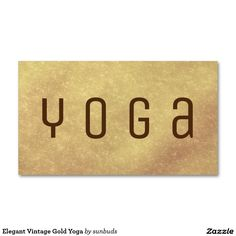 Elegant Vintage Gold Yoga Business Card