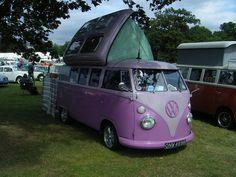 VW Lavender Camper.....ahhh brings back sweet happy memories #ghdpastel…