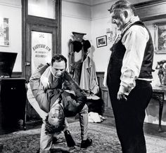 "Mel Brooks teaches Zero Mostel how to dip Gene Wilder on the set of ""The Producers"" (1968) So much talent in one movie!"