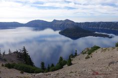 Crater Lake from the PCT alternate along the rim.
