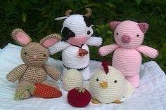 Crochet Farm Animal Pattern Set