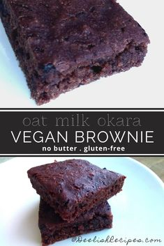 Vegan Brownies | DeelishRecipes.com: Recipes, Party Food, Cooking Guides, Dinner Ideas Okara Recipes, Vegan Vegetarian, Vegetarian Recipes, Vegan Brownie, Powder Recipe, Gluten Free Flour, Cake Baking, Vegan Treats, Granulated Sugar