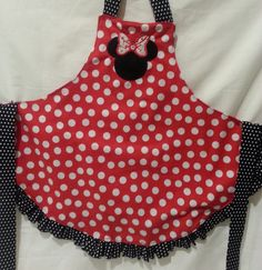 Personalized Childrens Minnie Mouse Apron by customcrazetsy